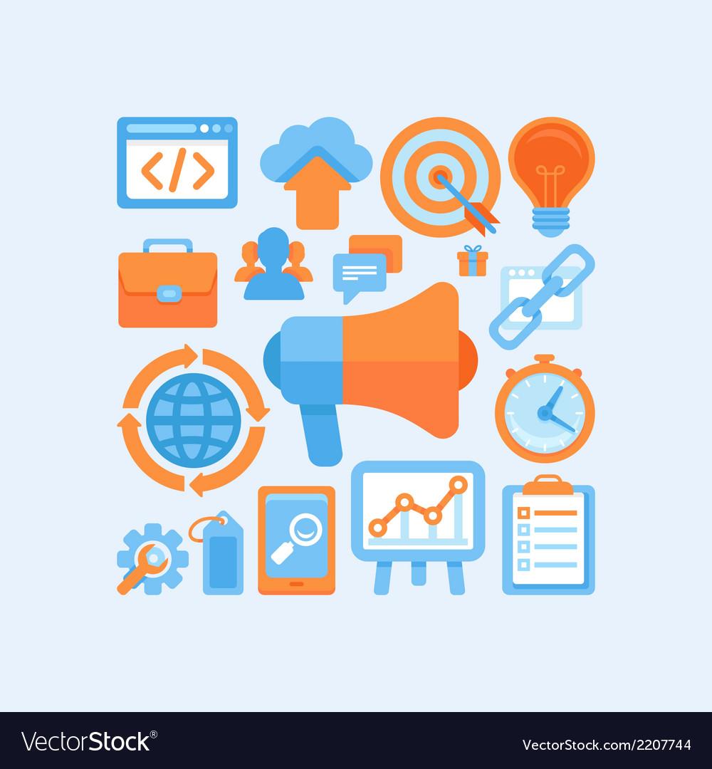 Flat internet marketing concept vector | Price: 1 Credit (USD $1)