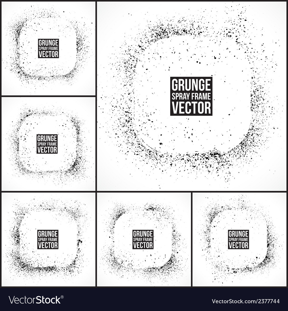 Grunge spray frames vector | Price: 1 Credit (USD $1)