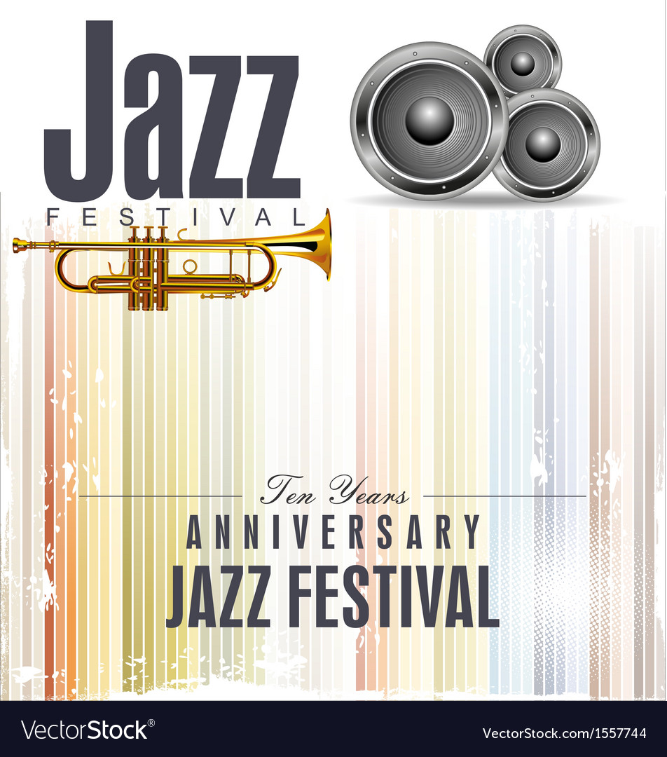 Jazz festival poster vector | Price: 1 Credit (USD $1)