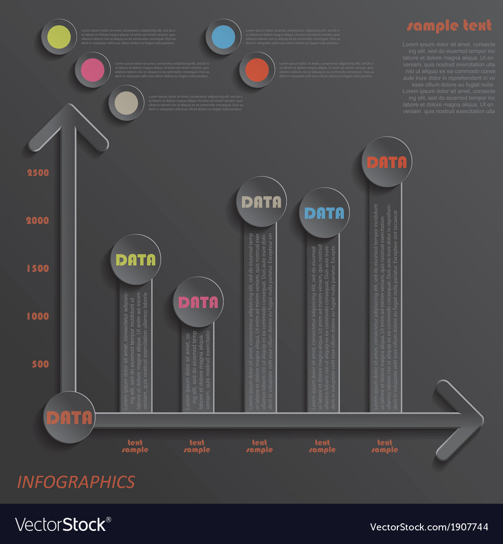 Modern template infographics design data presentat vector | Price: 1 Credit (USD $1)