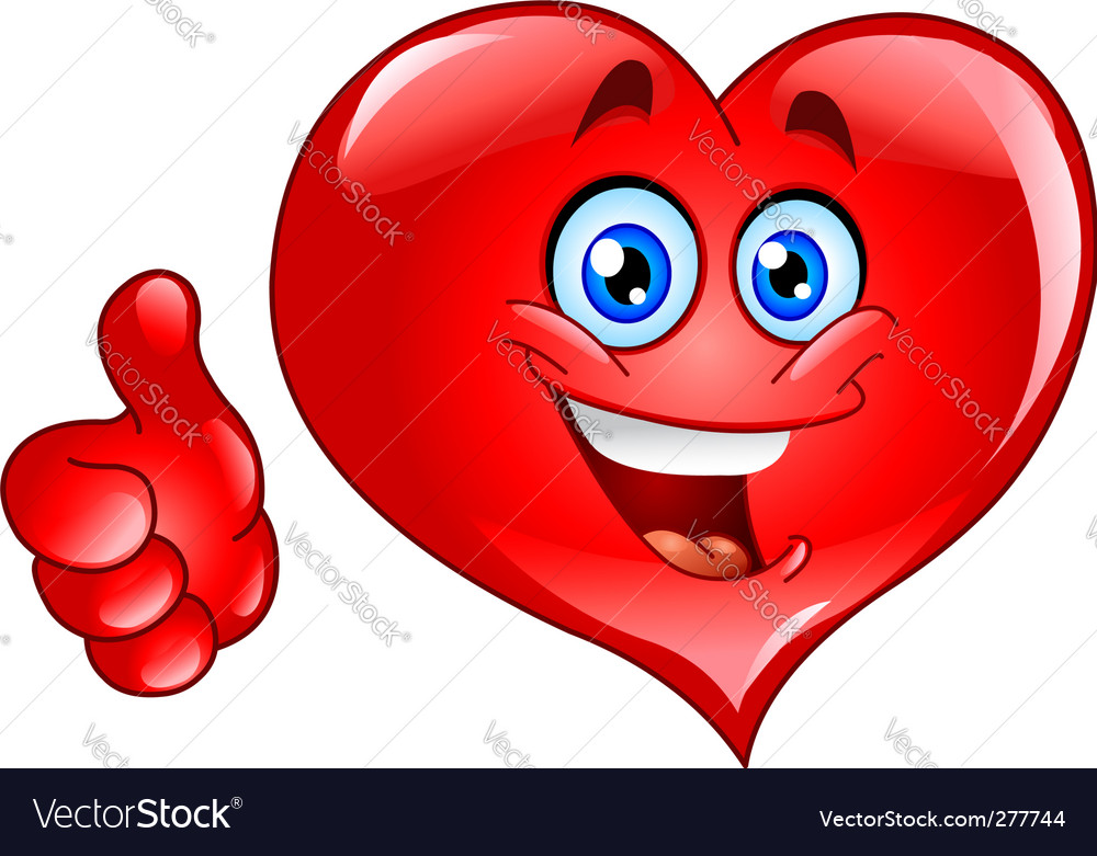 Thumb up heart vector | Price: 1 Credit (USD $1)