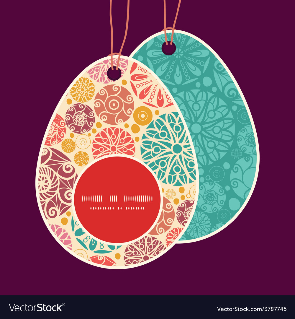 Abstract decorative circles easter egg vector | Price: 1 Credit (USD $1)