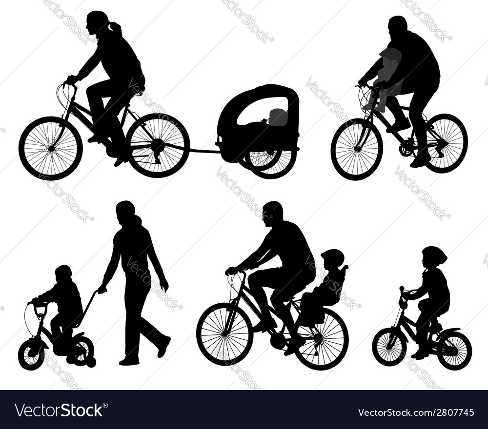 Bicyclists vector | Price: 1 Credit (USD $1)