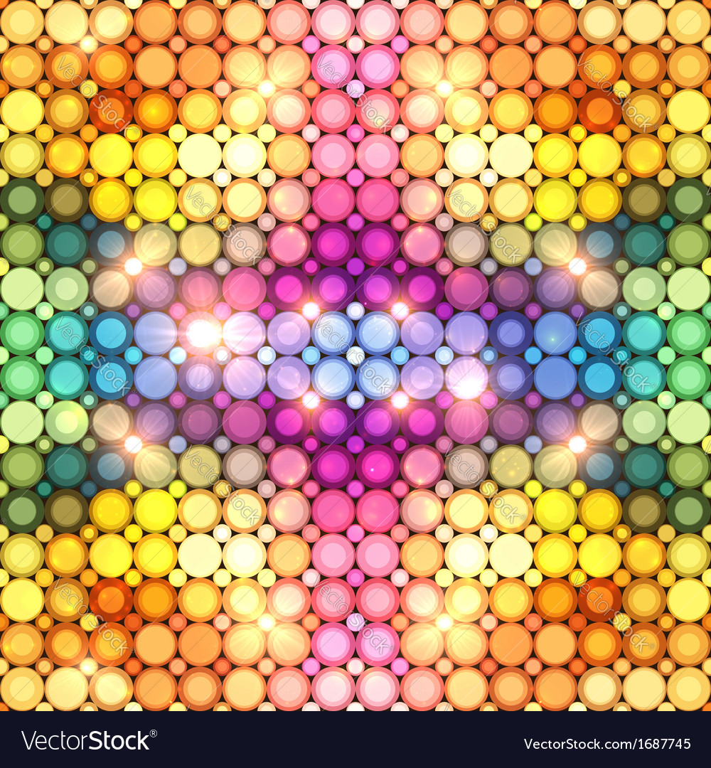 Colorful shining disco lights abstract background vector | Price: 1 Credit (USD $1)