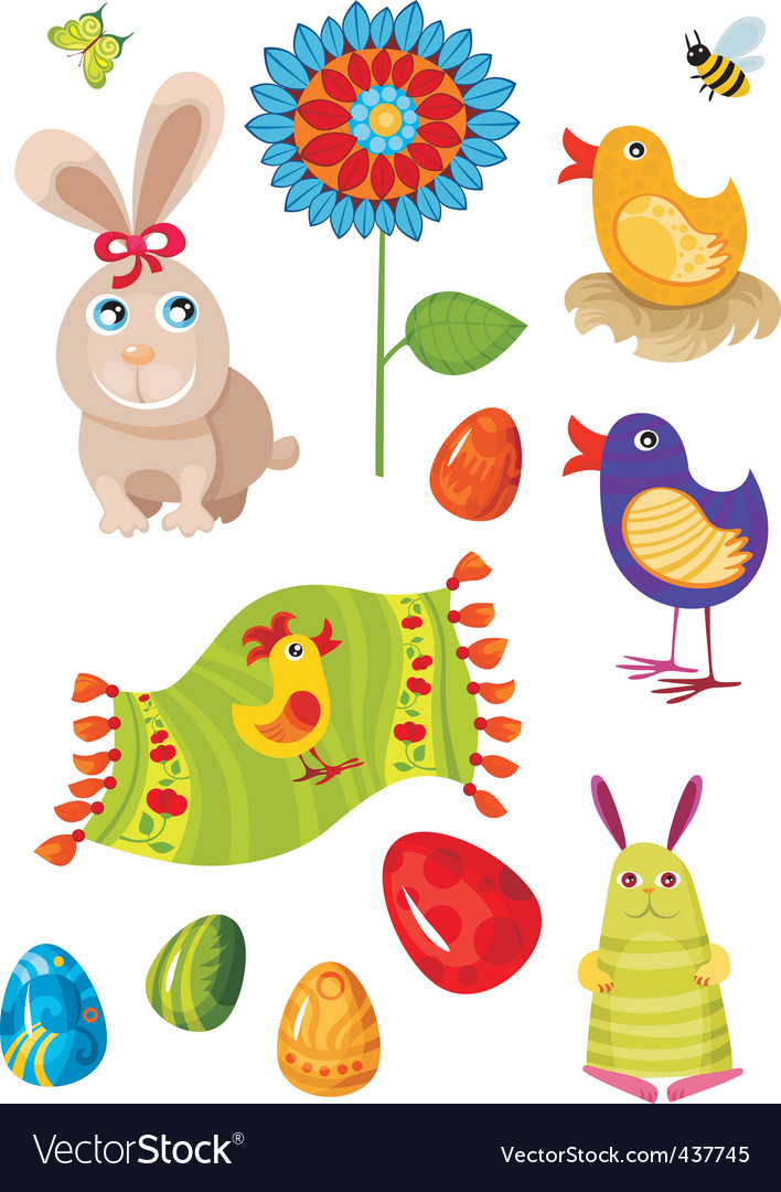 Easter set vector   Price: 1 Credit (USD $1)