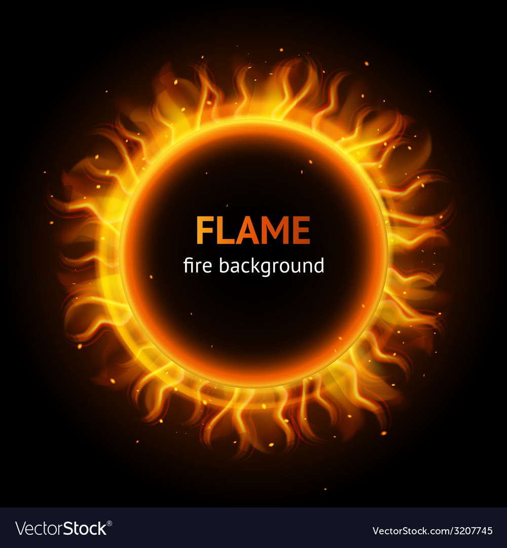 Flame circle background vector | Price: 1 Credit (USD $1)