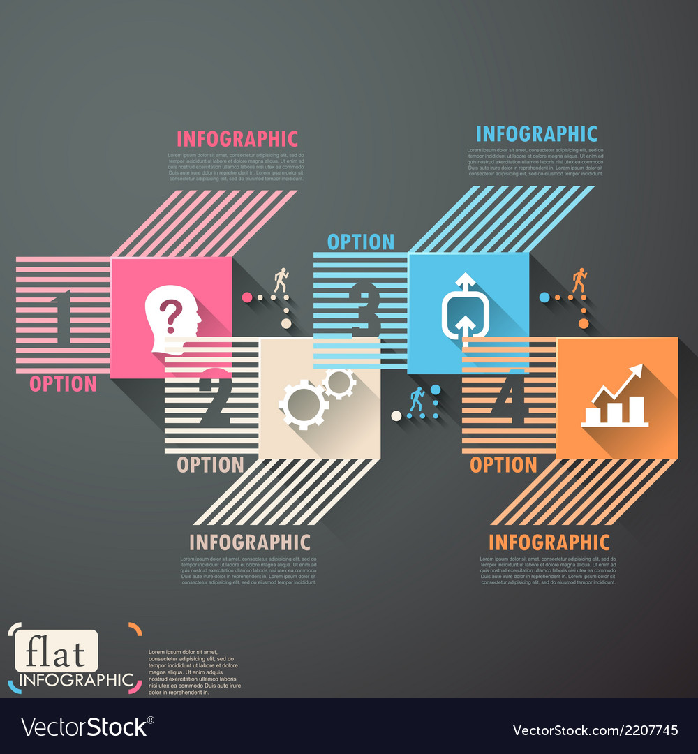Flat infographic design vector | Price: 1 Credit (USD $1)