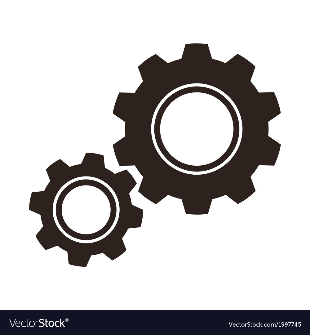 Gears cogs icon vector | Price: 1 Credit (USD $1)
