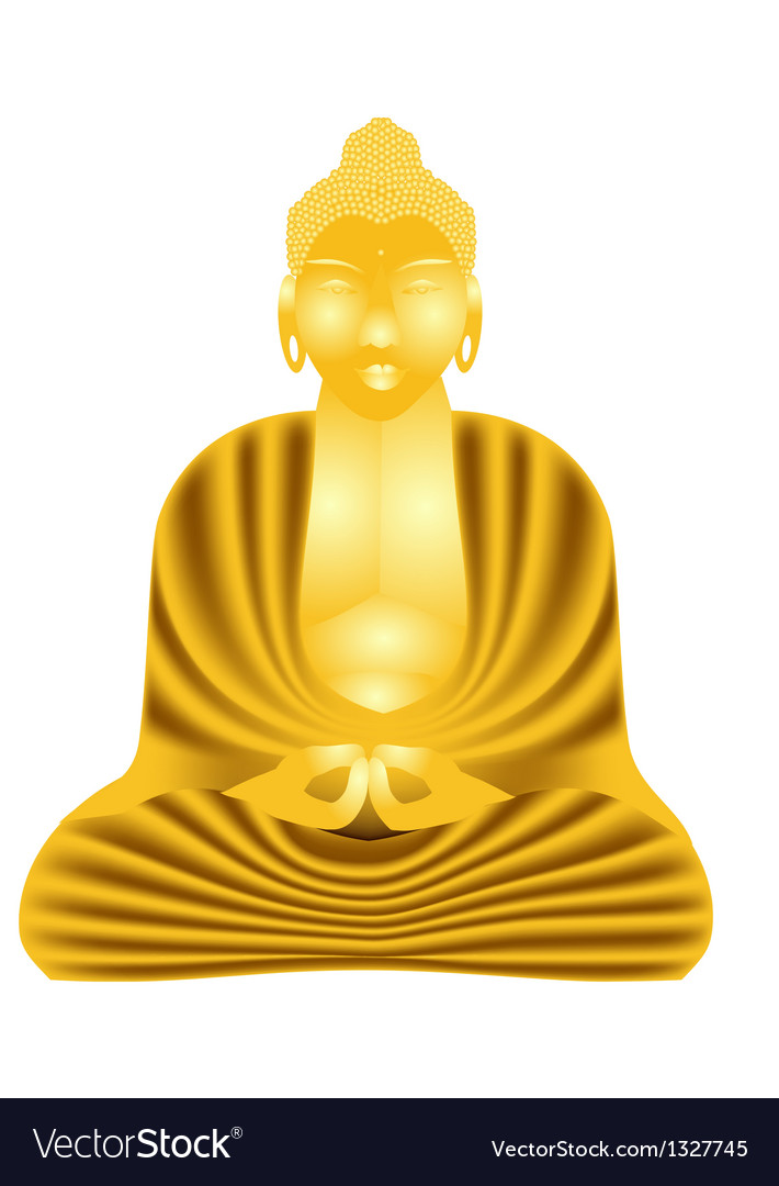 Golden buddha vector | Price: 1 Credit (USD $1)