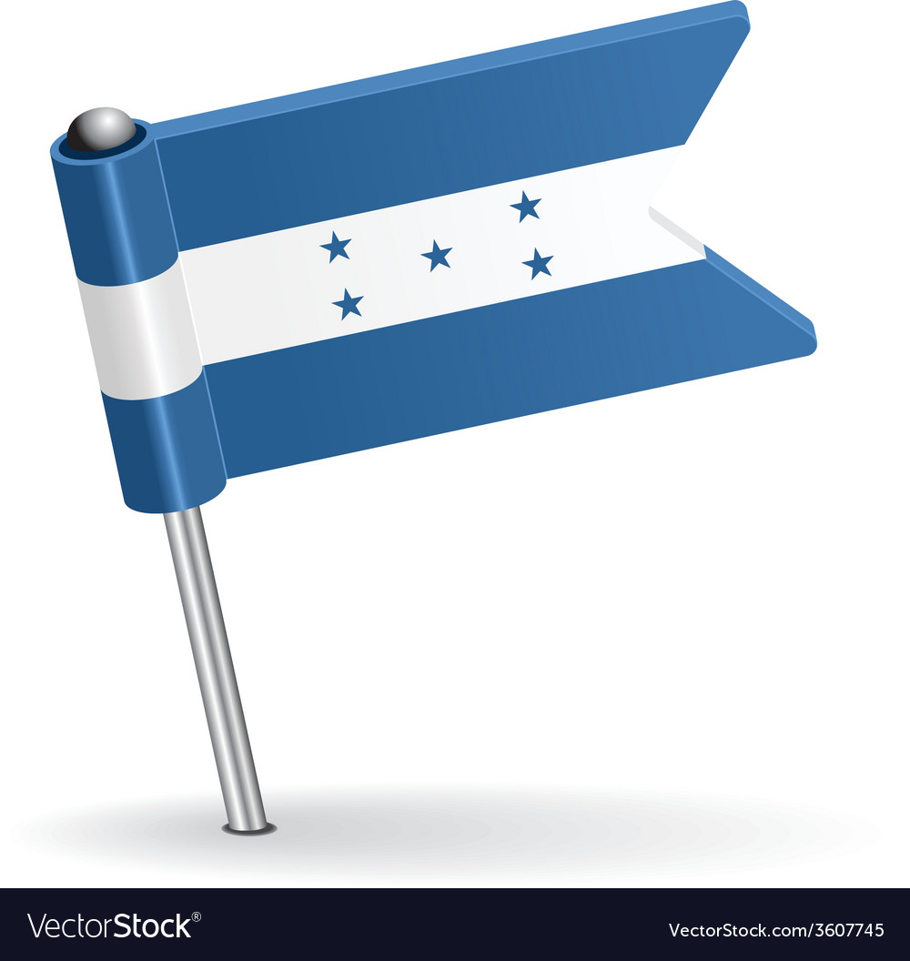 Honduras pin icon flag vector | Price: 1 Credit (USD $1)