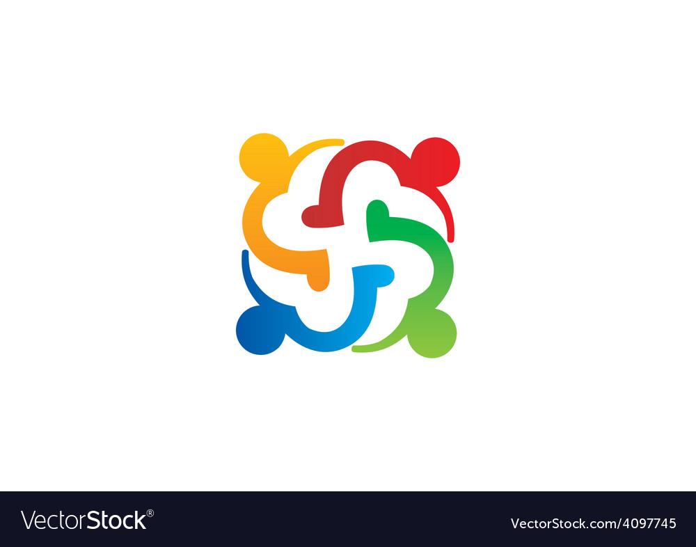 Love teamwok diversity people logo vector   Price: 1 Credit (USD $1)