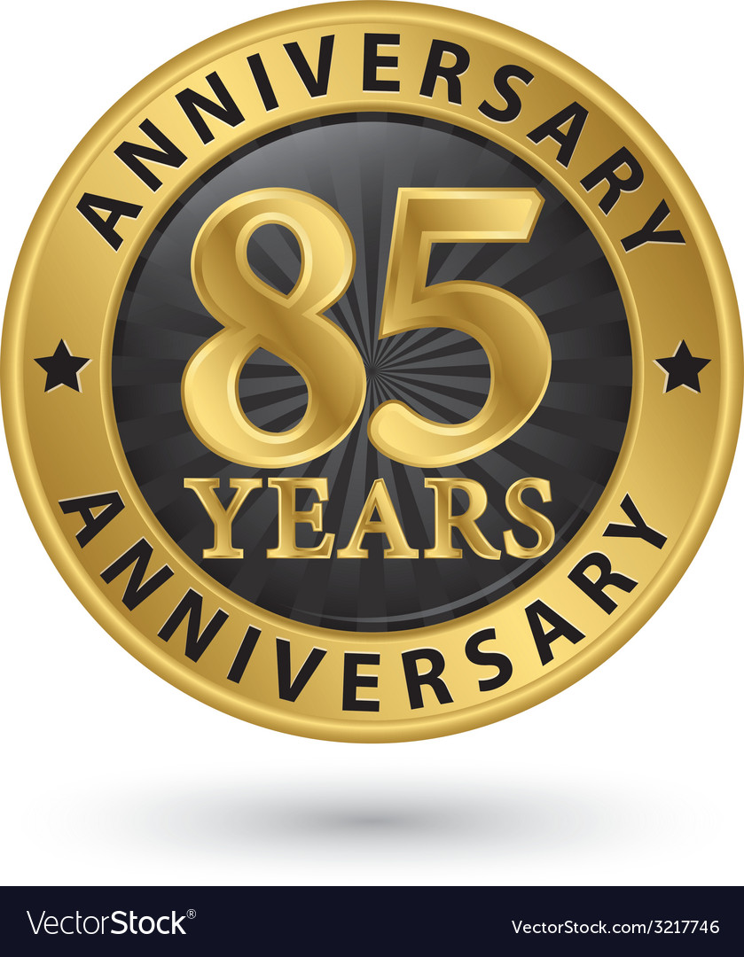 85 years anniversary gold label vector | Price: 1 Credit (USD $1)