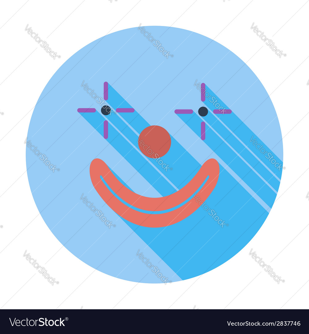 Clown icon vector | Price: 1 Credit (USD $1)