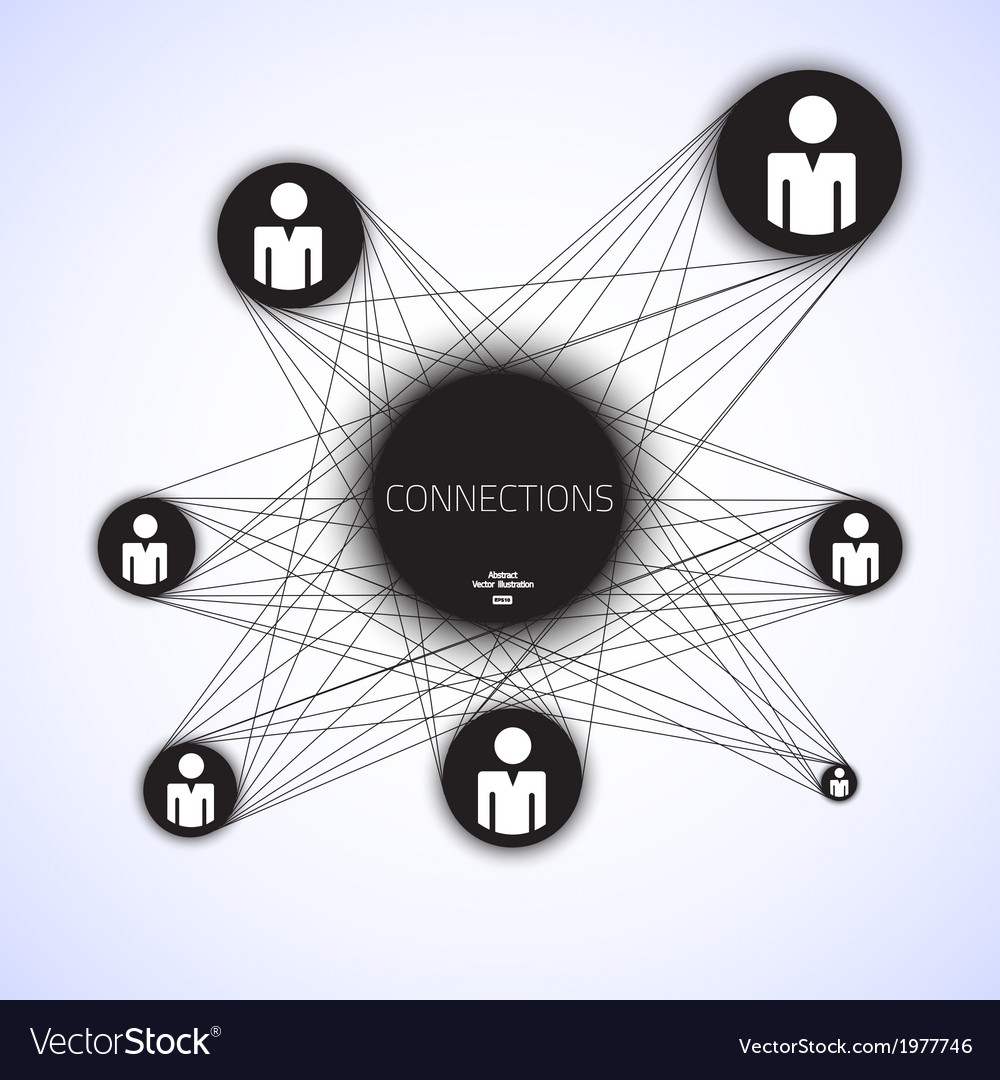 Geometric connections vector | Price: 1 Credit (USD $1)