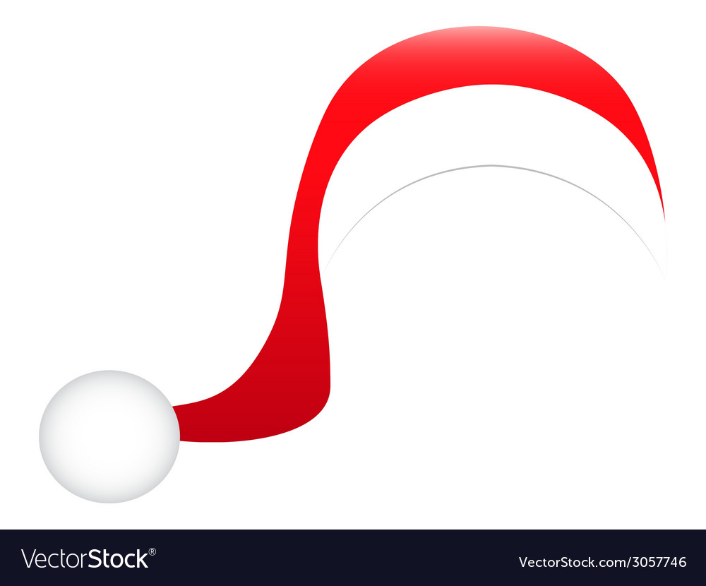 Hat of santa claus vector | Price: 1 Credit (USD $1)