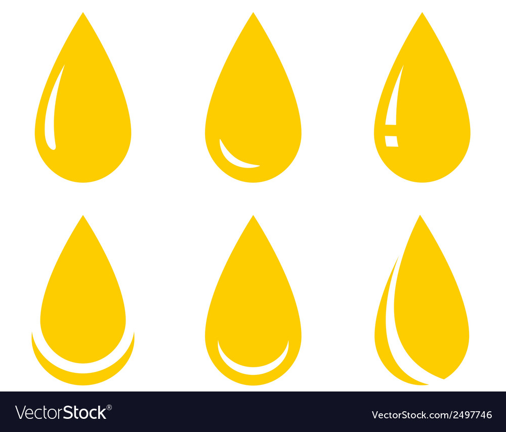 Oil drop set vector | Price: 1 Credit (USD $1)