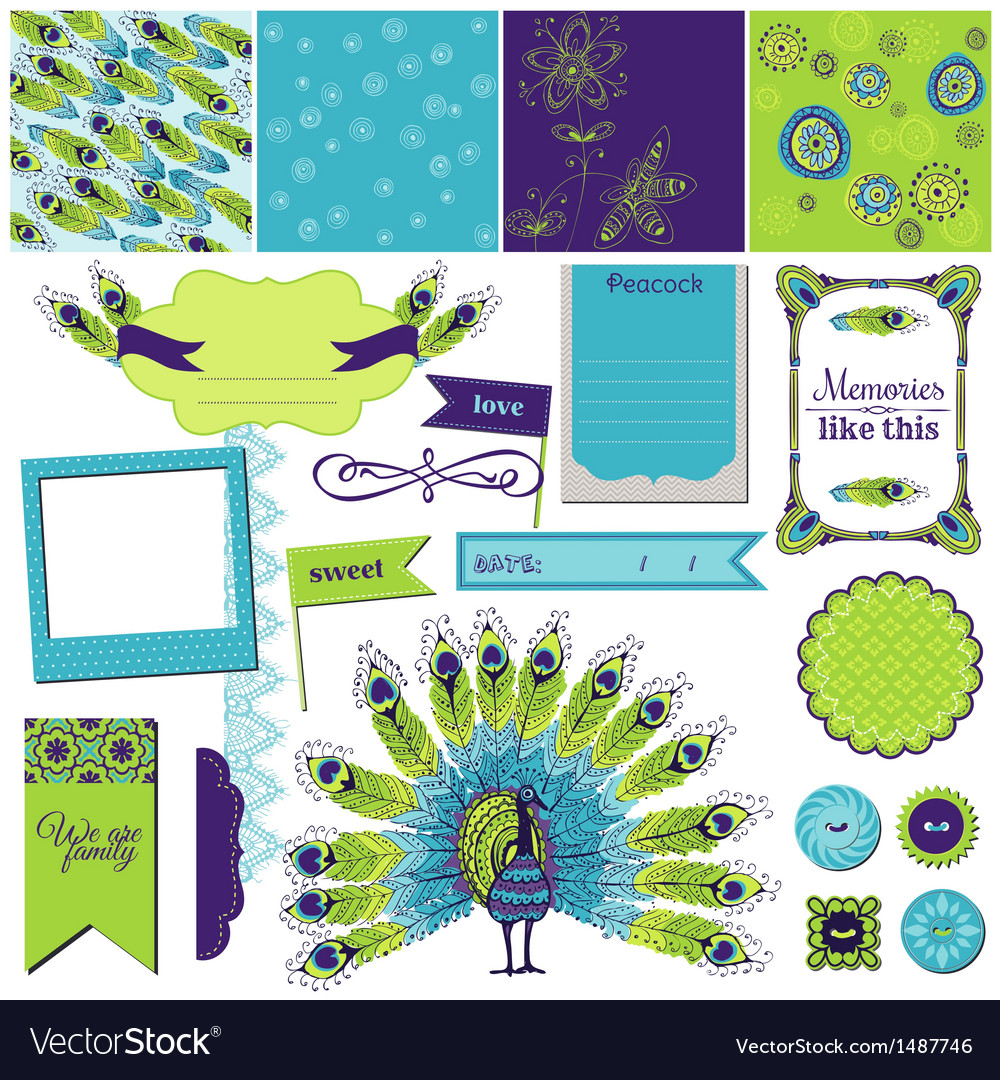 Peacock theme vector | Price: 1 Credit (USD $1)