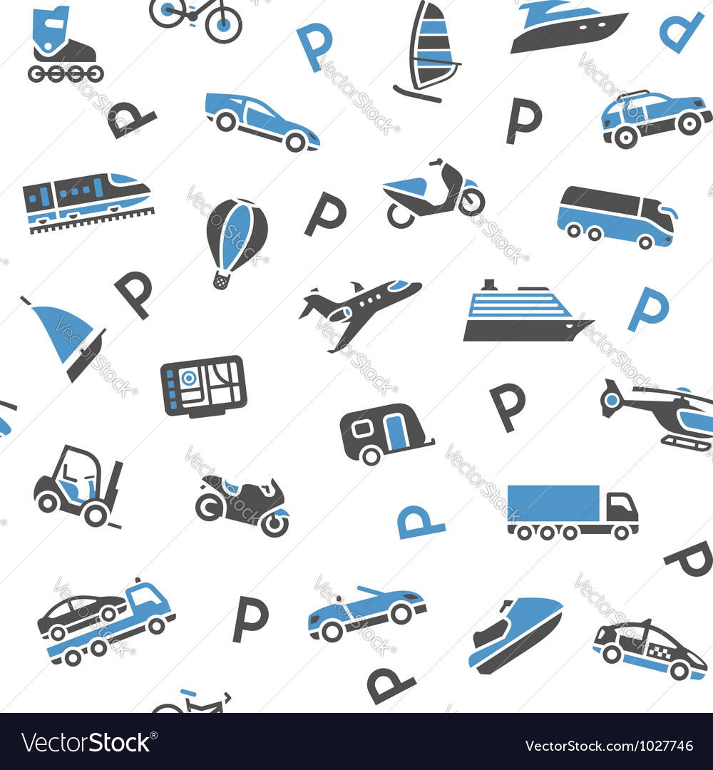 Seamless background transport icons - wrapping vector | Price: 1 Credit (USD $1)