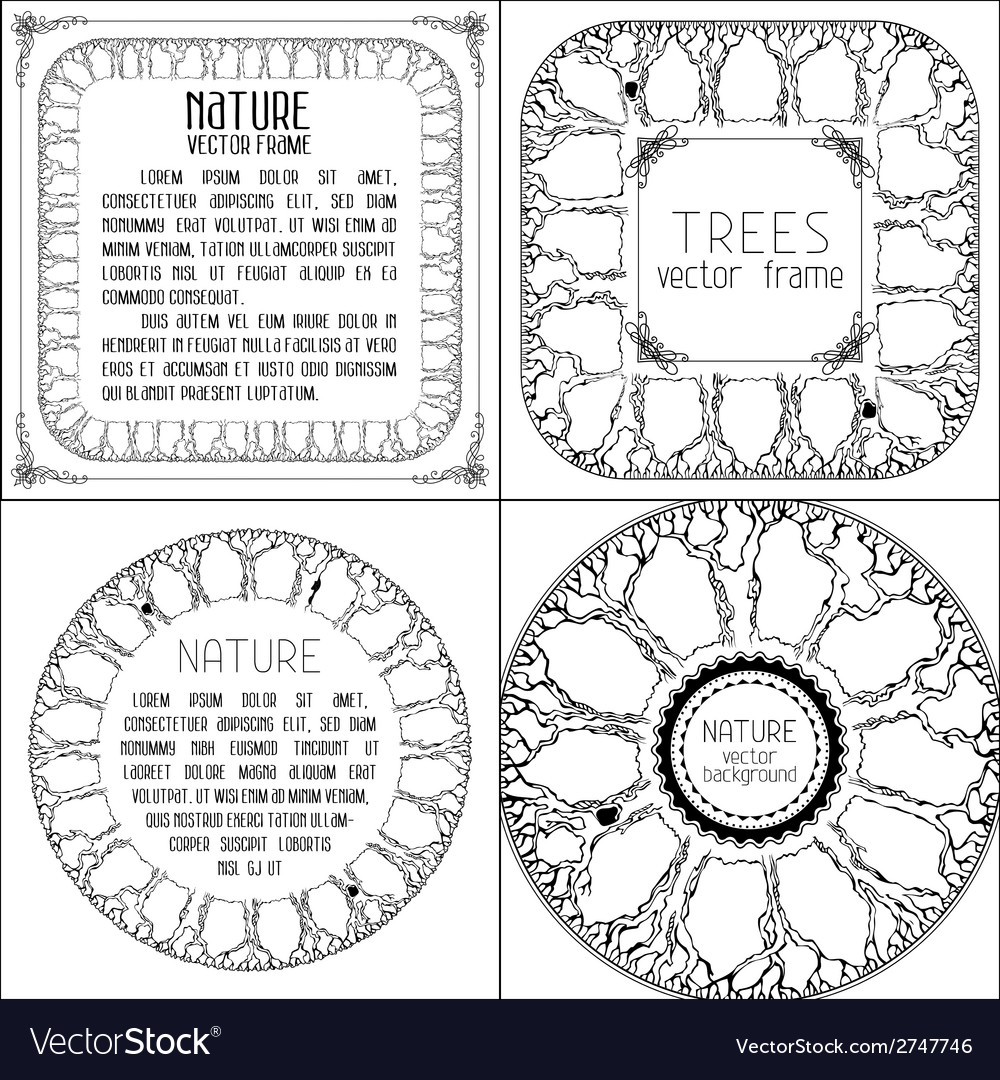 Set of nature designs vector | Price: 1 Credit (USD $1)