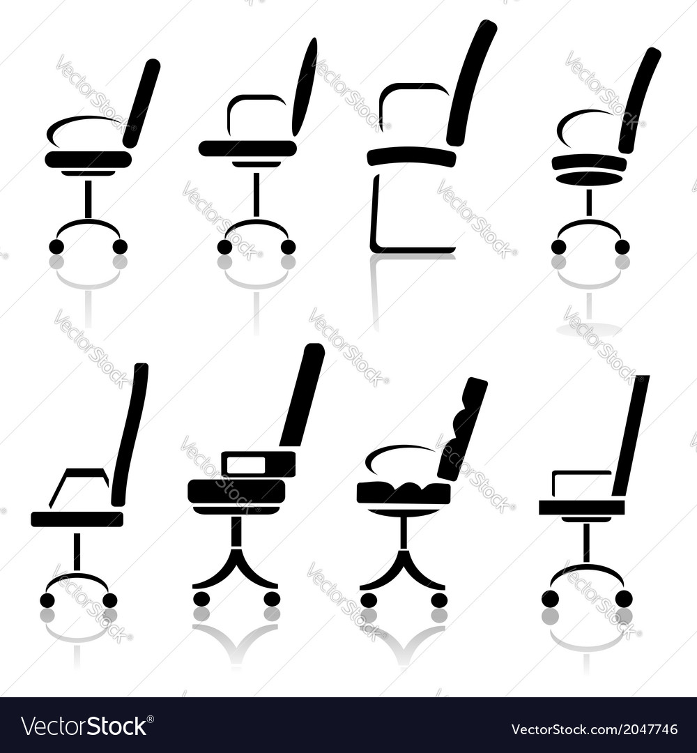 Silhouettes of office chairs vector | Price: 1 Credit (USD $1)