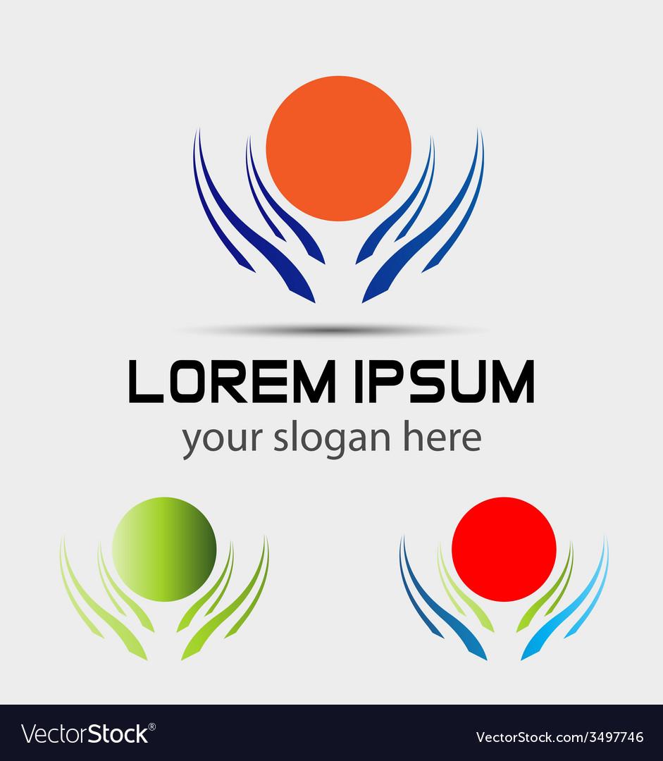 Sun logo icons element set vector
