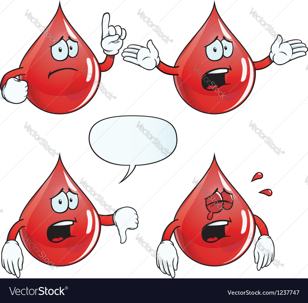 Crying blood drop set vector | Price: 1 Credit (USD $1)