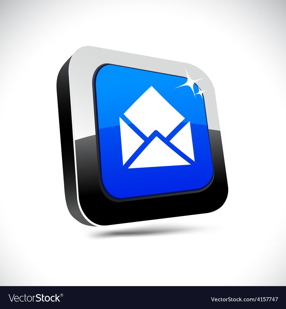 E-mail 3d square button vector | Price: 1 Credit (USD $1)