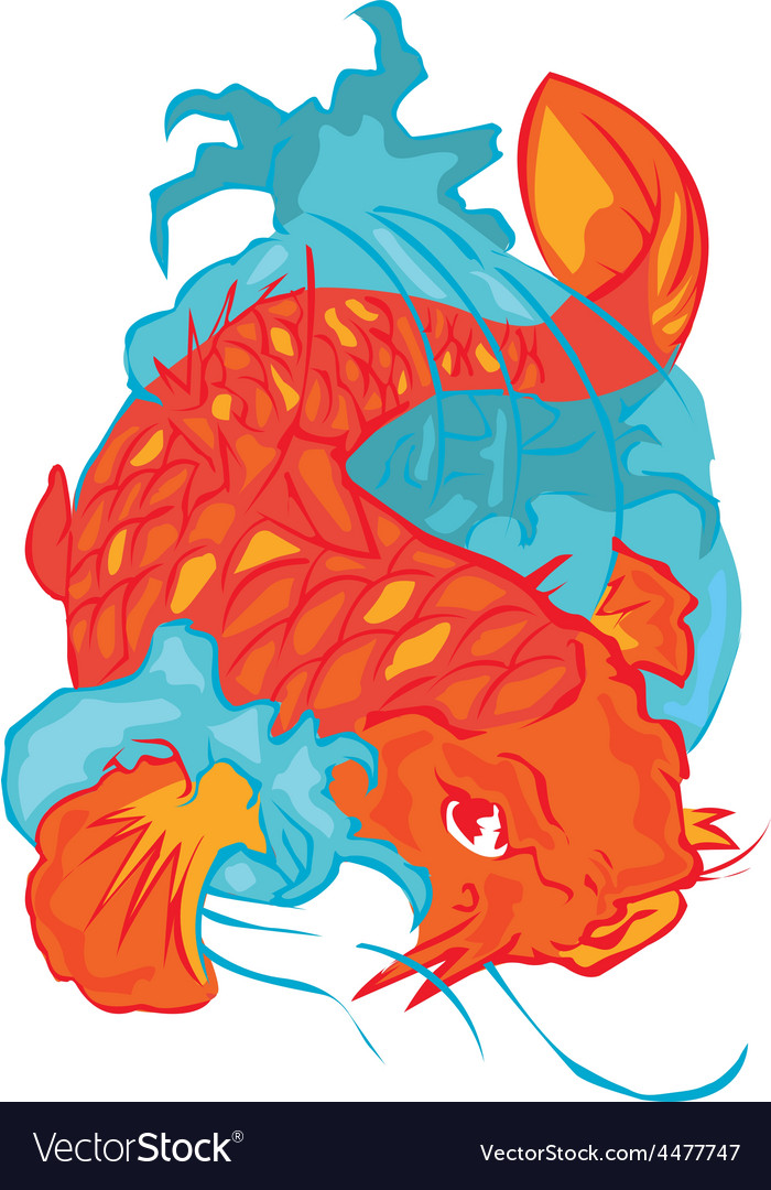 Koifish design vector | Price: 1 Credit (USD $1)