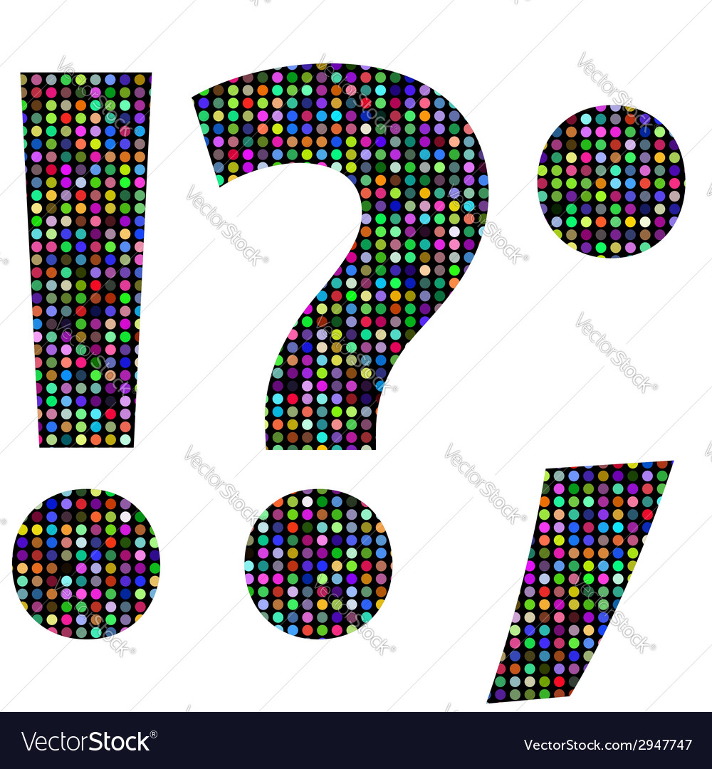 Multicolor question mark vector | Price: 1 Credit (USD $1)