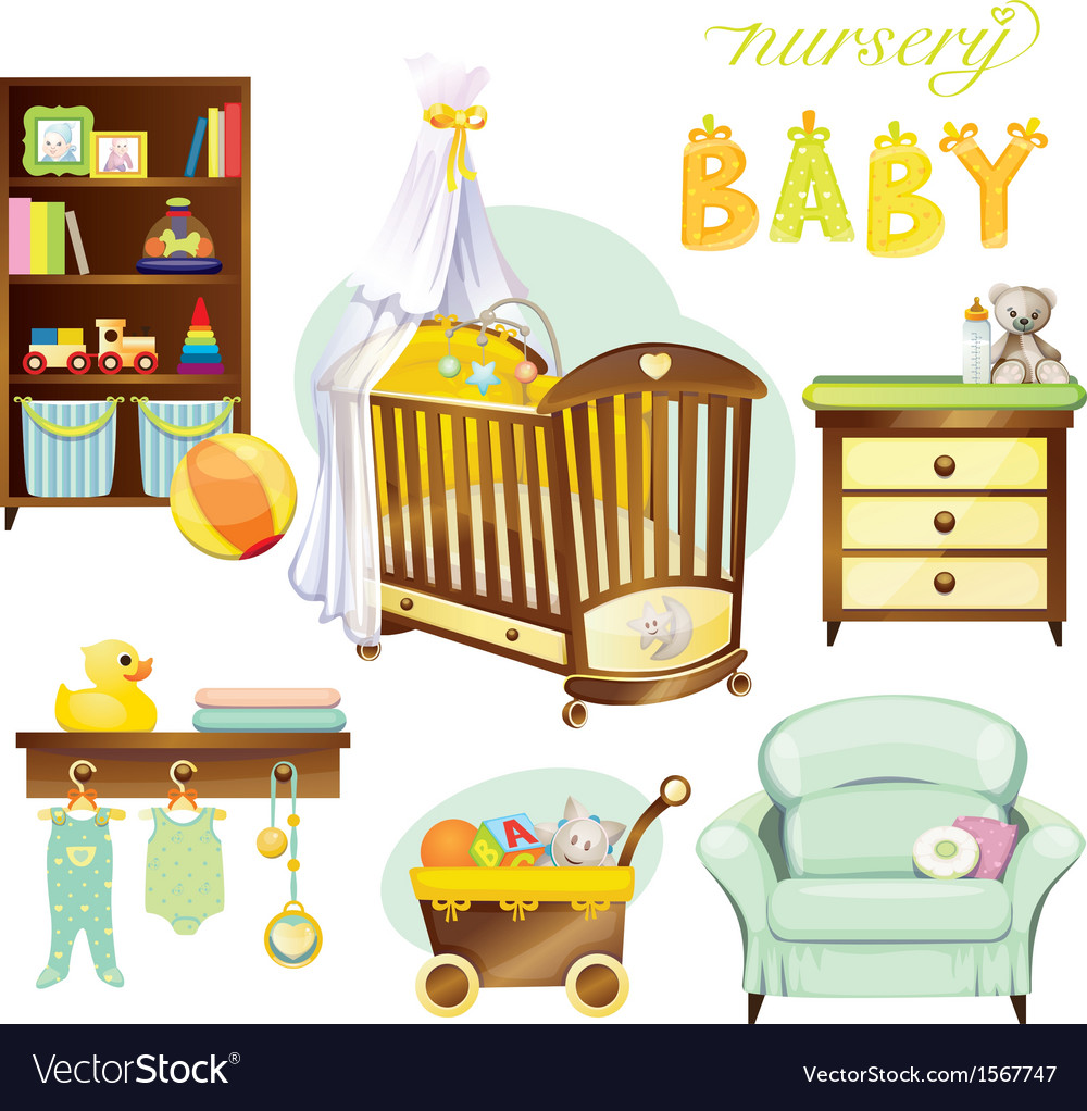 Nursery baby vector | Price: 1 Credit (USD $1)