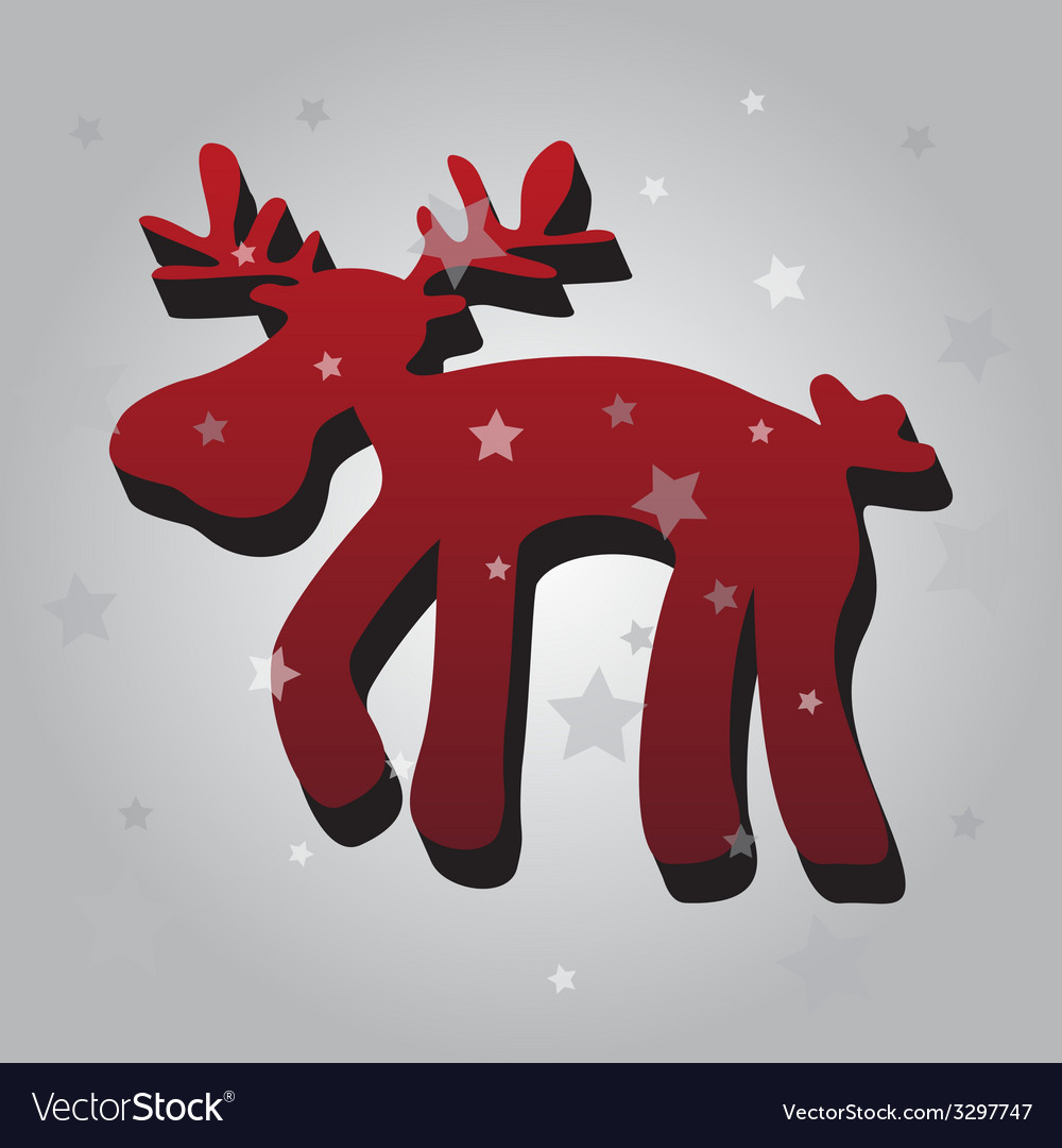 One isolated christmas red reindeer 3d eps10 vector   Price: 1 Credit (USD $1)
