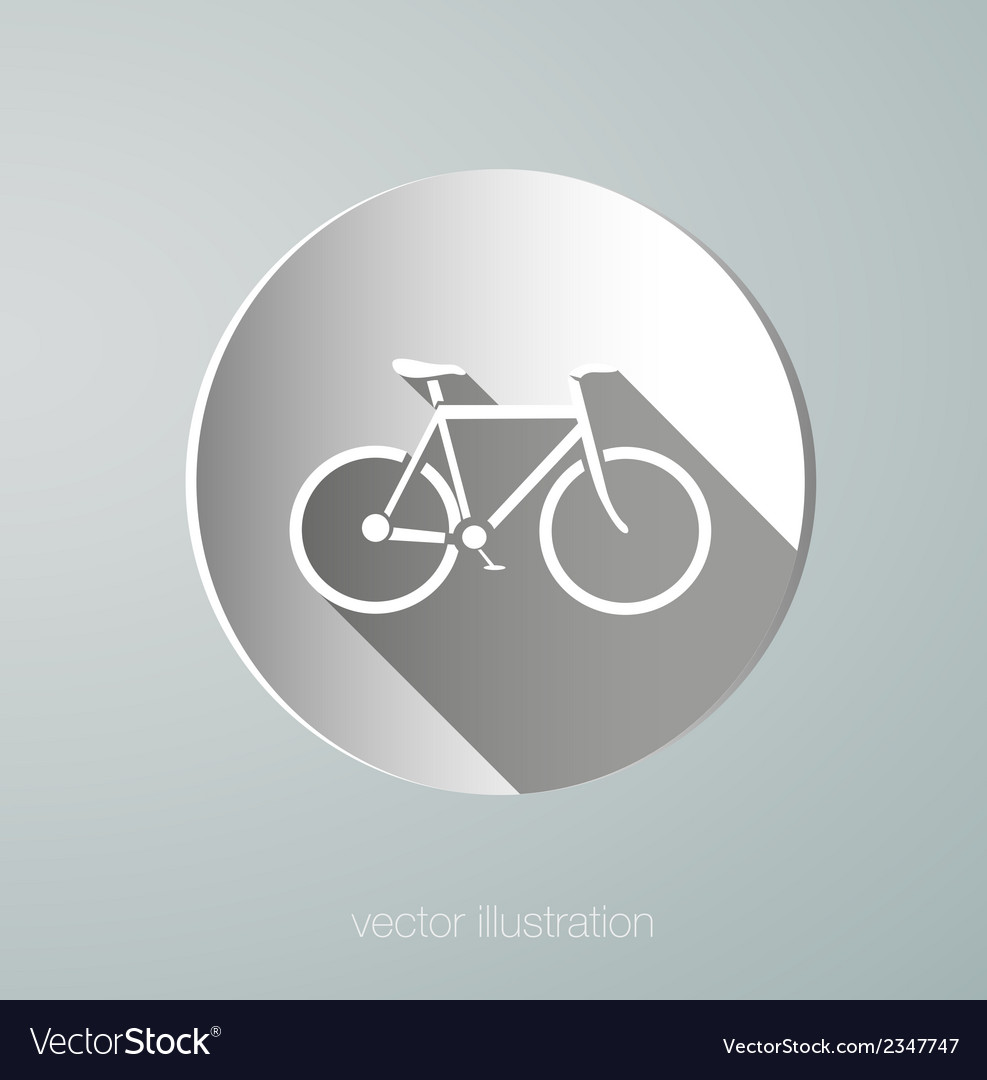 Paper icon bicycle vector | Price: 1 Credit (USD $1)