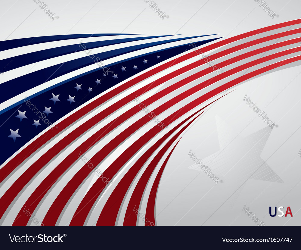Stylized background usa patriotic design with line vector | Price: 1 Credit (USD $1)