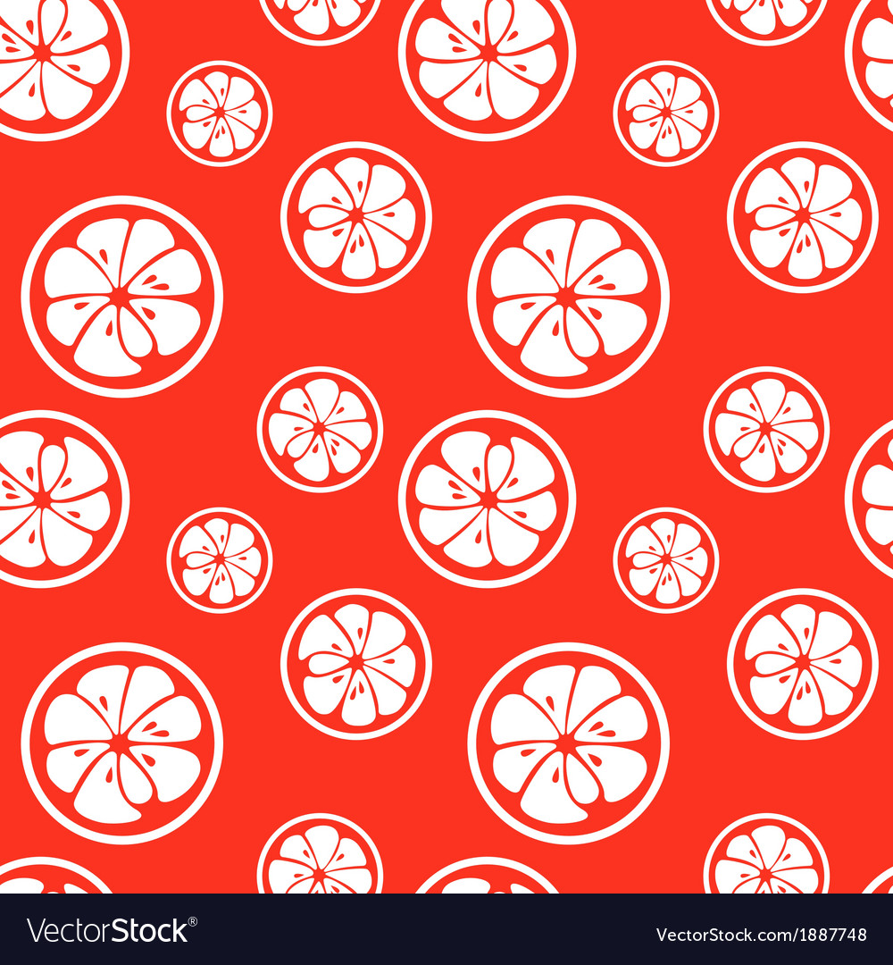 Abstract citrus fruit seamless pattern vector | Price: 1 Credit (USD $1)