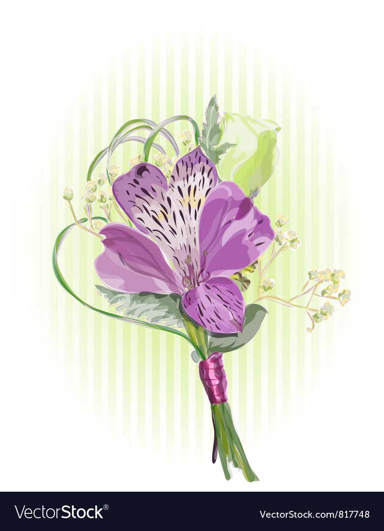 Alstroemeria and eustoma vector | Price: 1 Credit (USD $1)