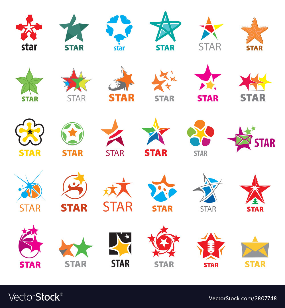 Biggest collection of logos stars vector | Price: 1 Credit (USD $1)