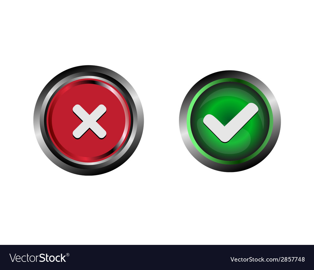 Confirm and decline buttons vector | Price: 1 Credit (USD $1)