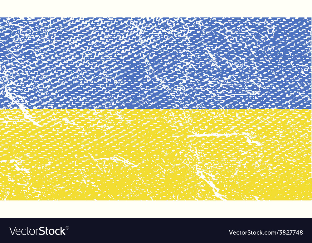 Flag of ukraine with old texture vector | Price: 1 Credit (USD $1)