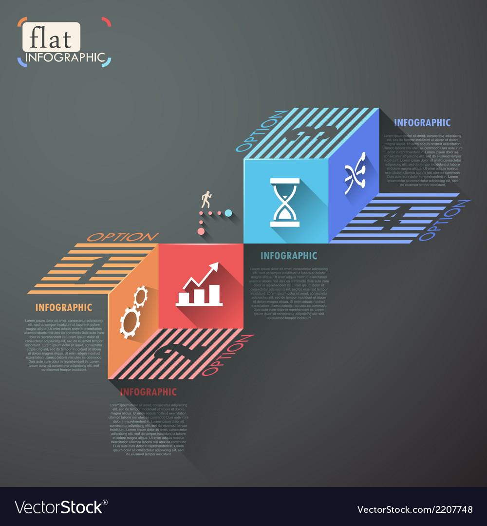 Flat infographic design vector   Price: 1 Credit (USD $1)