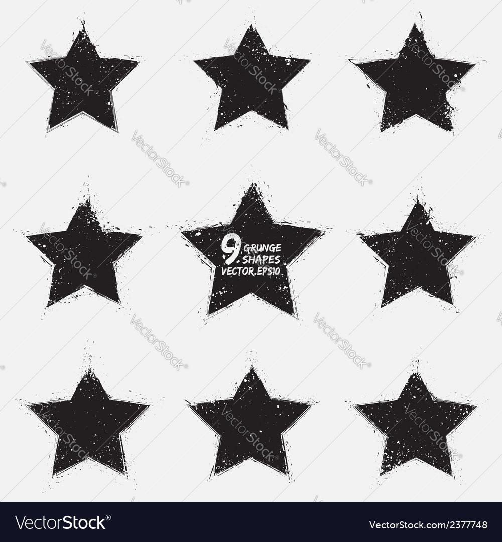 Grunge stars vector | Price: 1 Credit (USD $1)