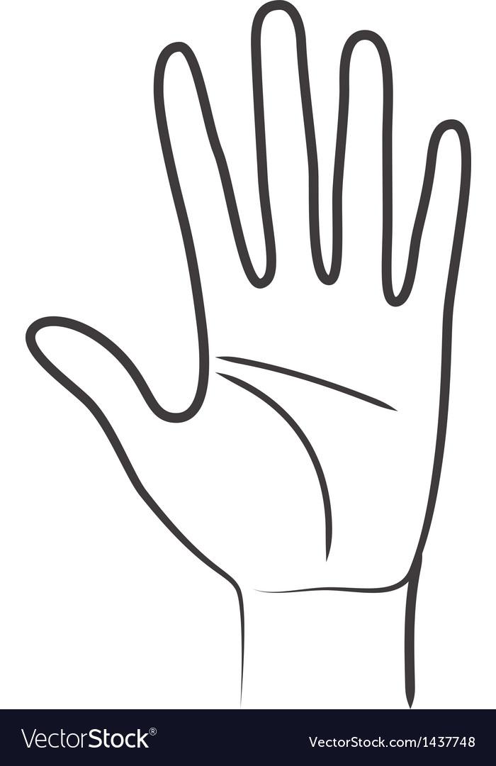 Hand symbol vector | Price: 1 Credit (USD $1)