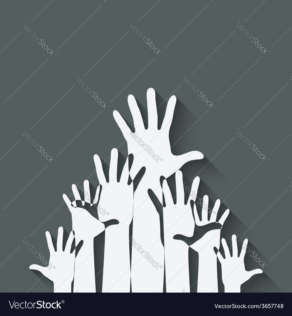 Hands up symbol vector | Price: 1 Credit (USD $1)