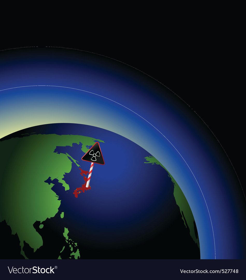 Illustration of global radioactive biohazard after vector | Price: 1 Credit (USD $1)