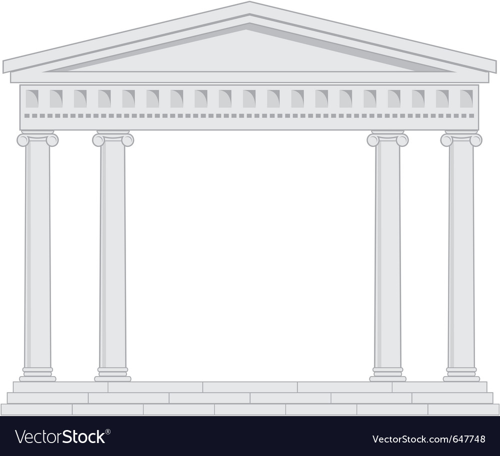 Portico an ancient temple vector | Price: 1 Credit (USD $1)