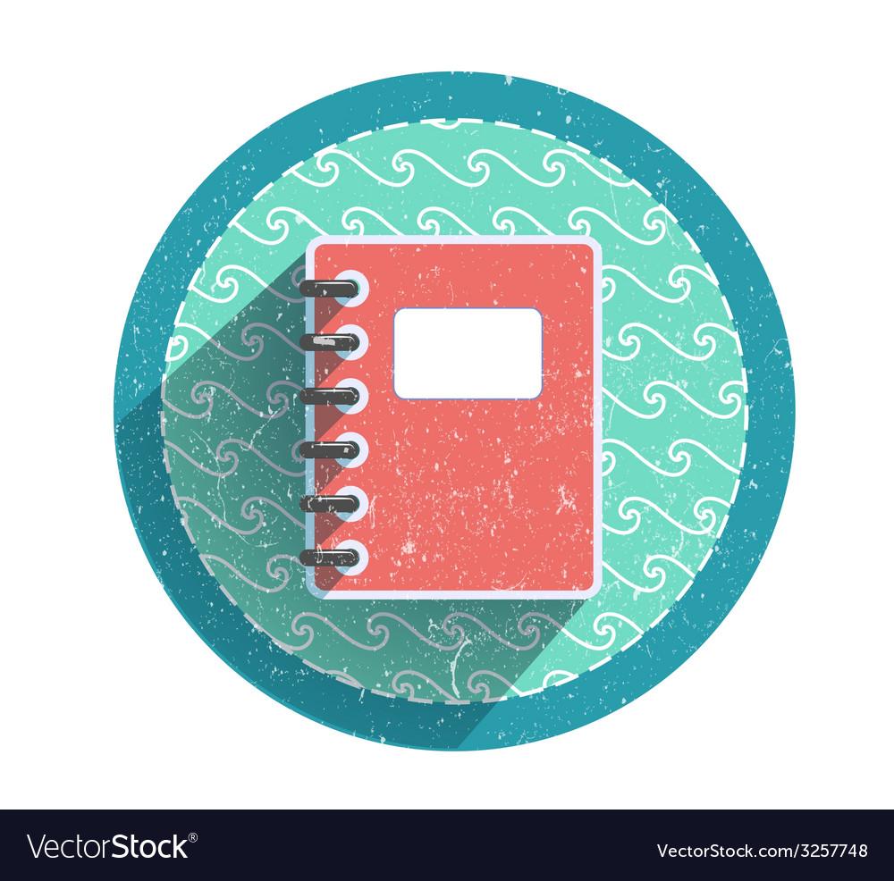 Retro notebook icon vector | Price: 1 Credit (USD $1)