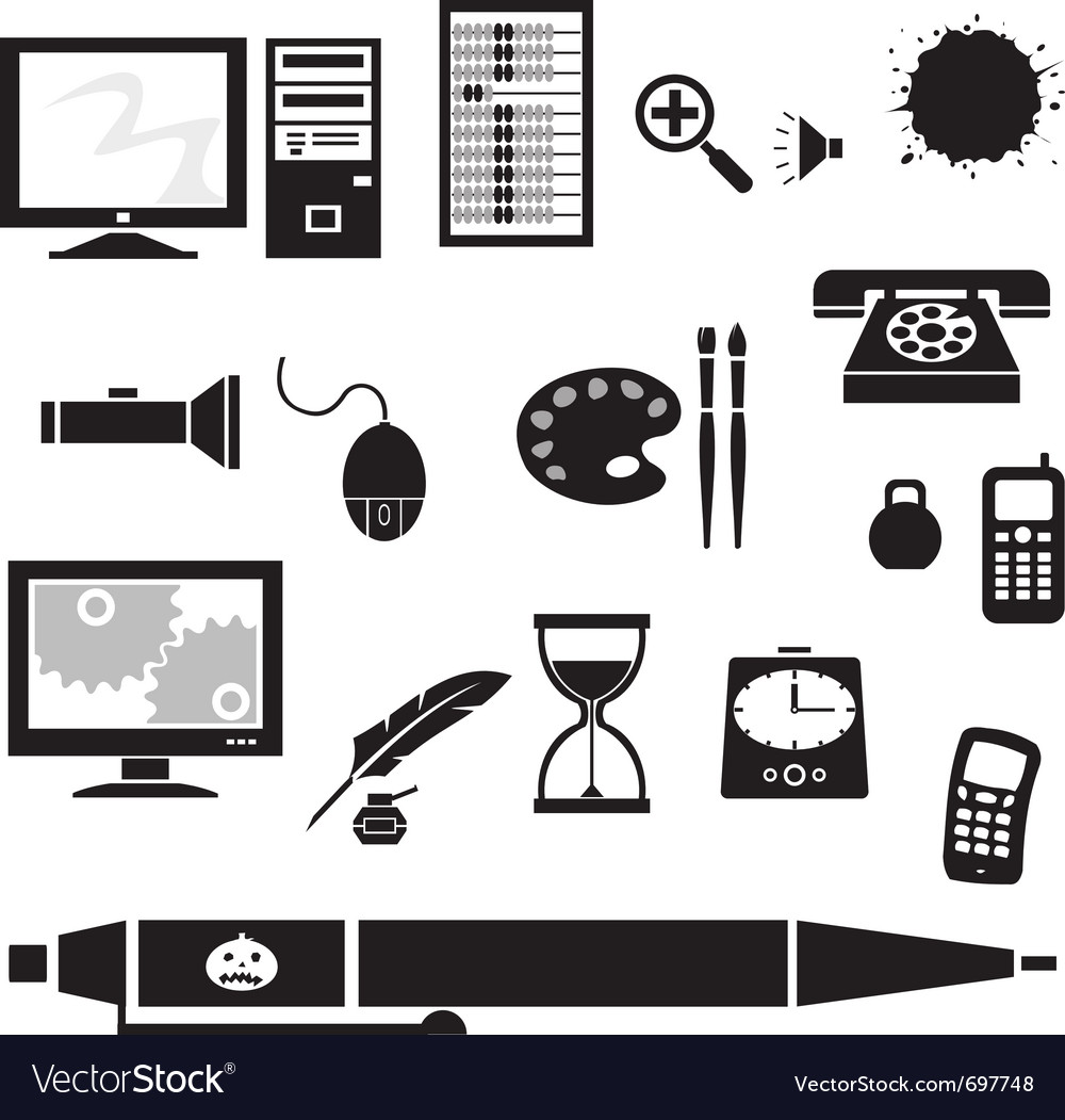 Silhouette - office vector | Price: 1 Credit (USD $1)