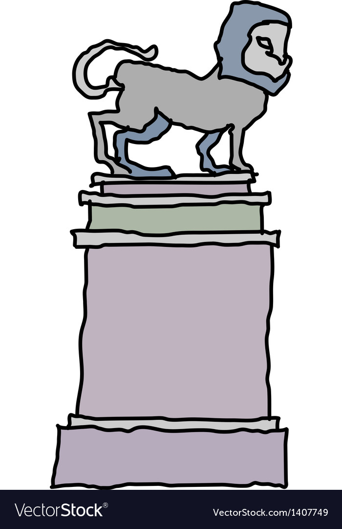 A view of statue vector | Price: 1 Credit (USD $1)