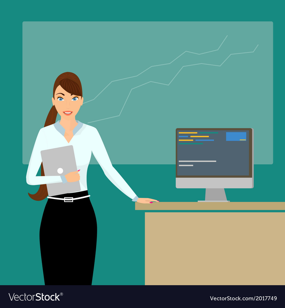Business coach at lecture time vector | Price: 1 Credit (USD $1)