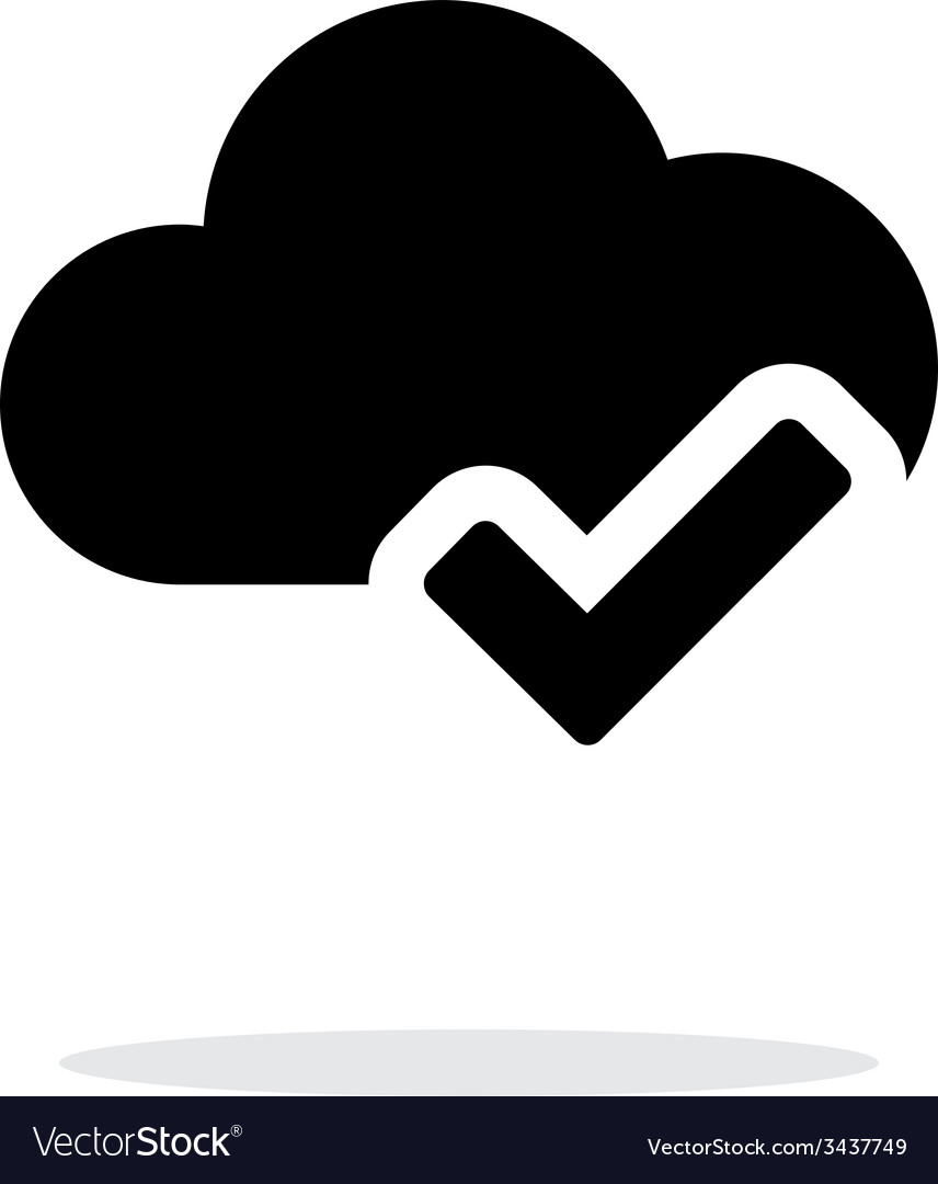 Check cloud simple icon on white background vector | Price: 1 Credit (USD $1)