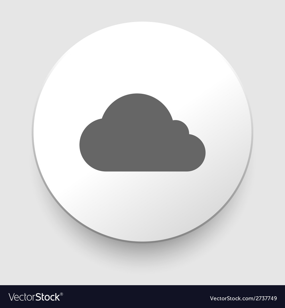 Cloud icon eps10 easy to edit vector | Price: 1 Credit (USD $1)